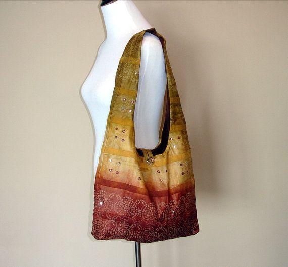 9fc03facc9b5 Silk Sari Purse  Boho Indian Saree Handbag