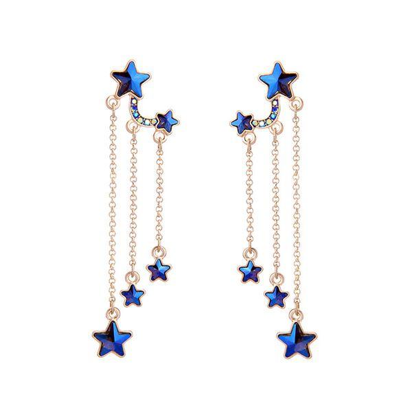 blue star earrings