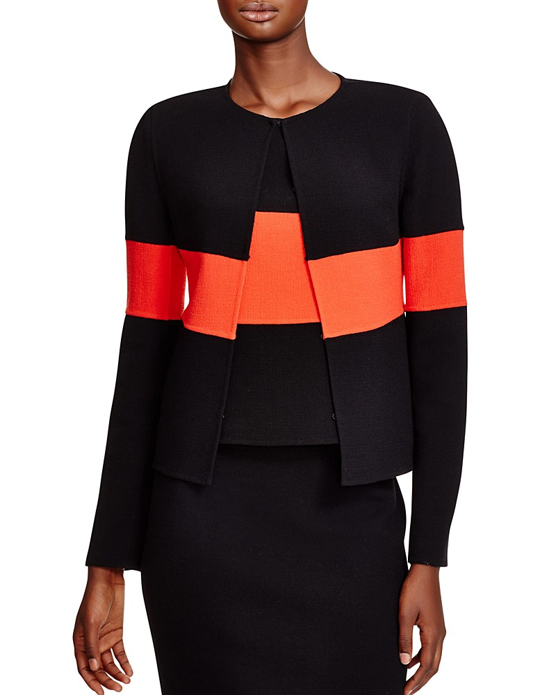 837.00$  Buy here - http://vimsw.justgood.pw/vig/item.php?t=kcl6n350723 - Armani Collezioni Color-Blocked Wool Jacket
