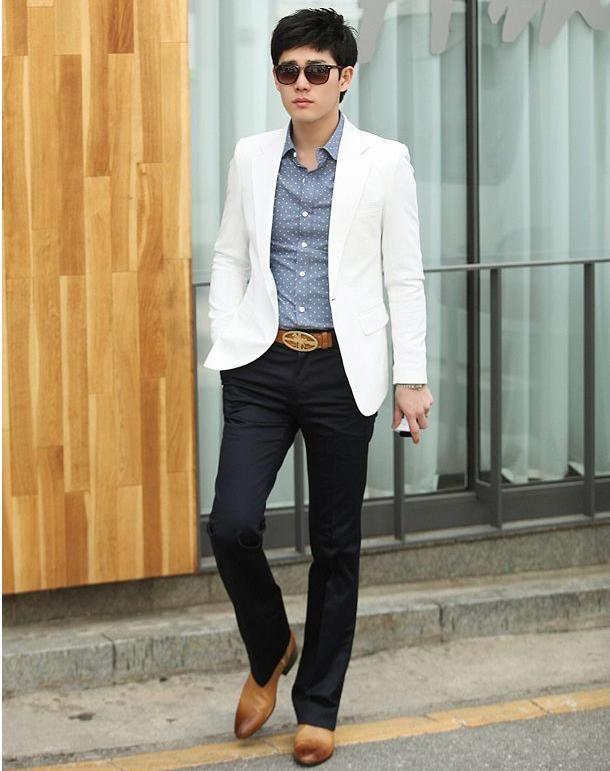 white blazer mens fashion ideas - Google Search