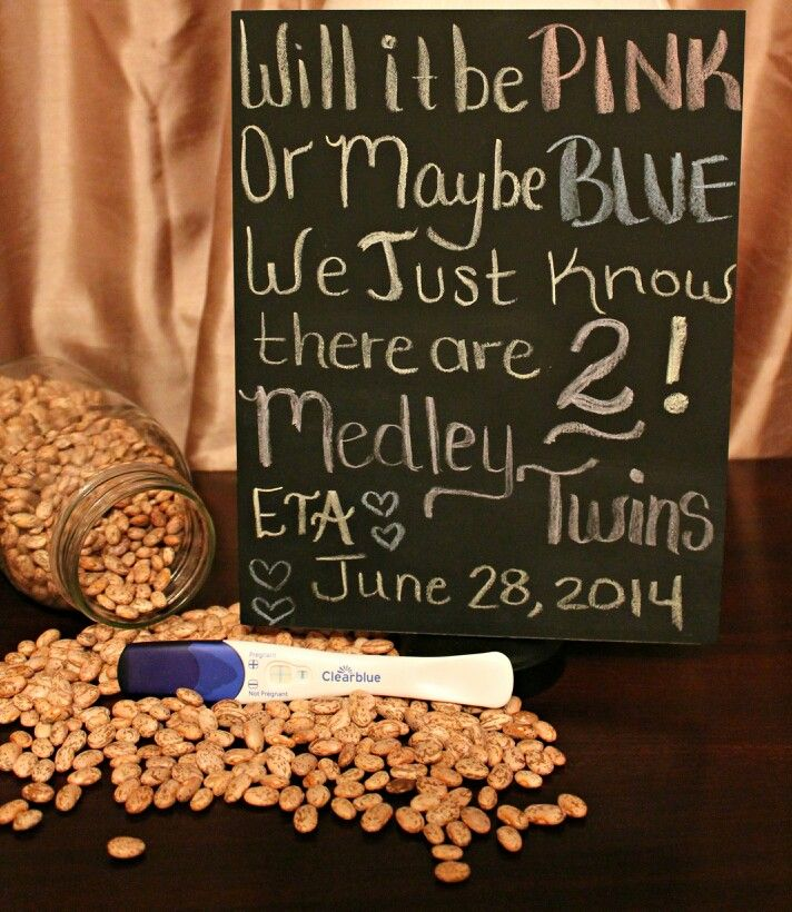 The way we announced our pregnancy with twins Twins – Baby Gender Announcement Wording