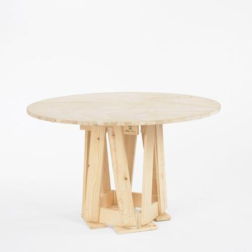 Autoprogettazione dining table (1974) by Italian designer Enzo Mari.