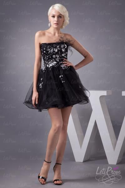 Tulle Acrylic Beaded Homecoming Dress - Cocktail Dresses - Prom Dresses | Wedding Dresses | Homecoming Dresses
