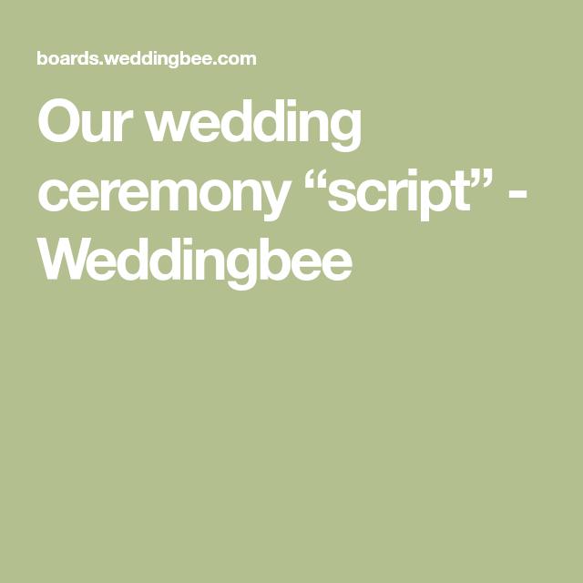"Our Wedding Ceremony ""script"""