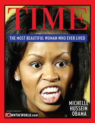 "Image detail for -Oh No… Time Magazine Votes Michelle Obama ""Most Beautiful Woman .LOL sure looks it here! Obama Hillary, Michelle And Barack Obama, Funny Picture Quotes, Funny Pictures, Funny Pics, Side By Side Pictures, Black Girl Problems, Laura Bush, Liberal Logic"