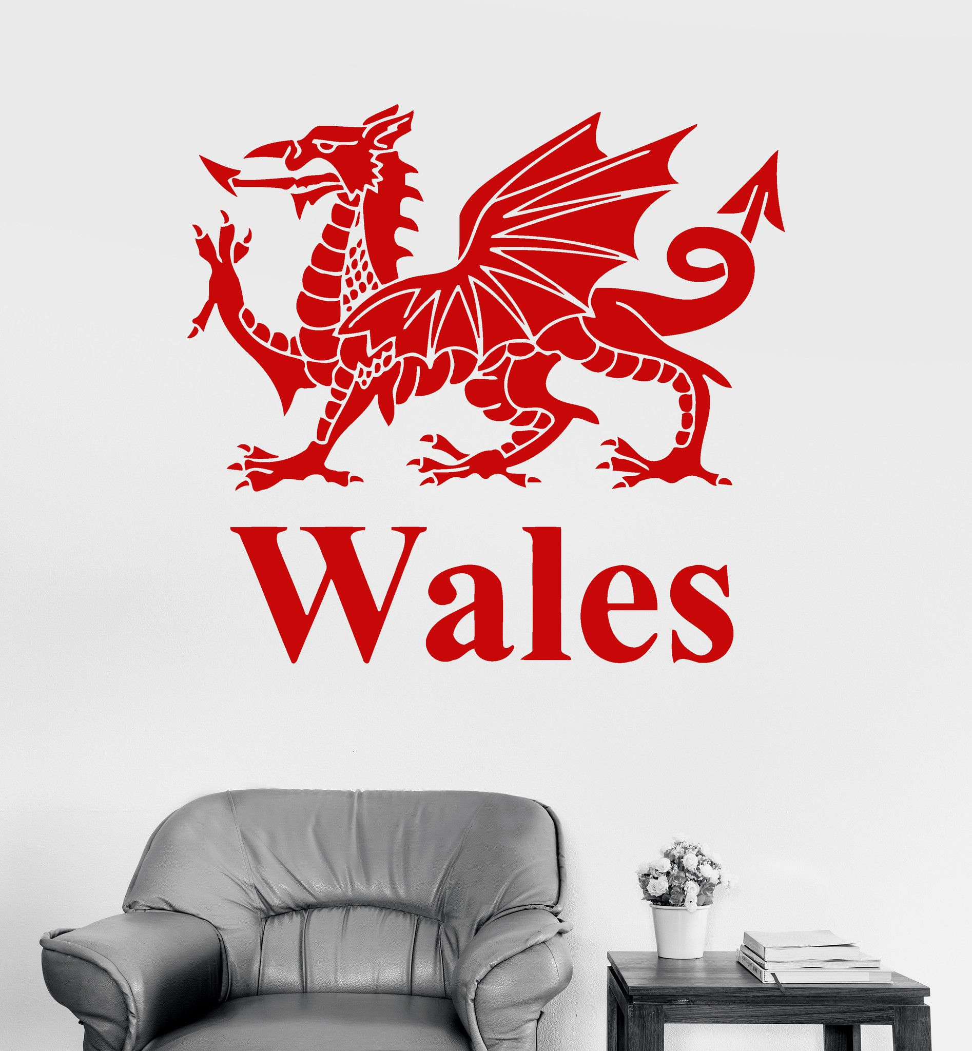 Vinyl Wall Decal Principality Of Wales Welsh Dragon Britain Stickers Unique Gift Ig3269 Vinyl Wall Decals Wall Decals Vinyl [ 2048 x 1894 Pixel ]