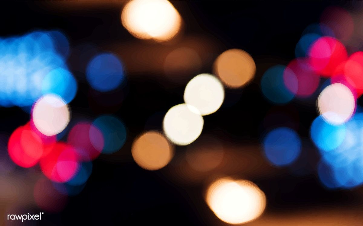 Blurred Bokeh Lights Night Time Wallpaper Free Image By Rawpixel