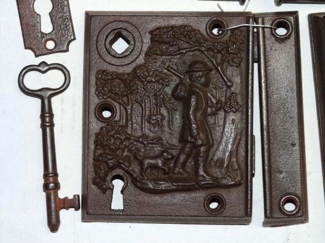 Antique Door Lock Antique Restoration Hardware Early Rim Lock