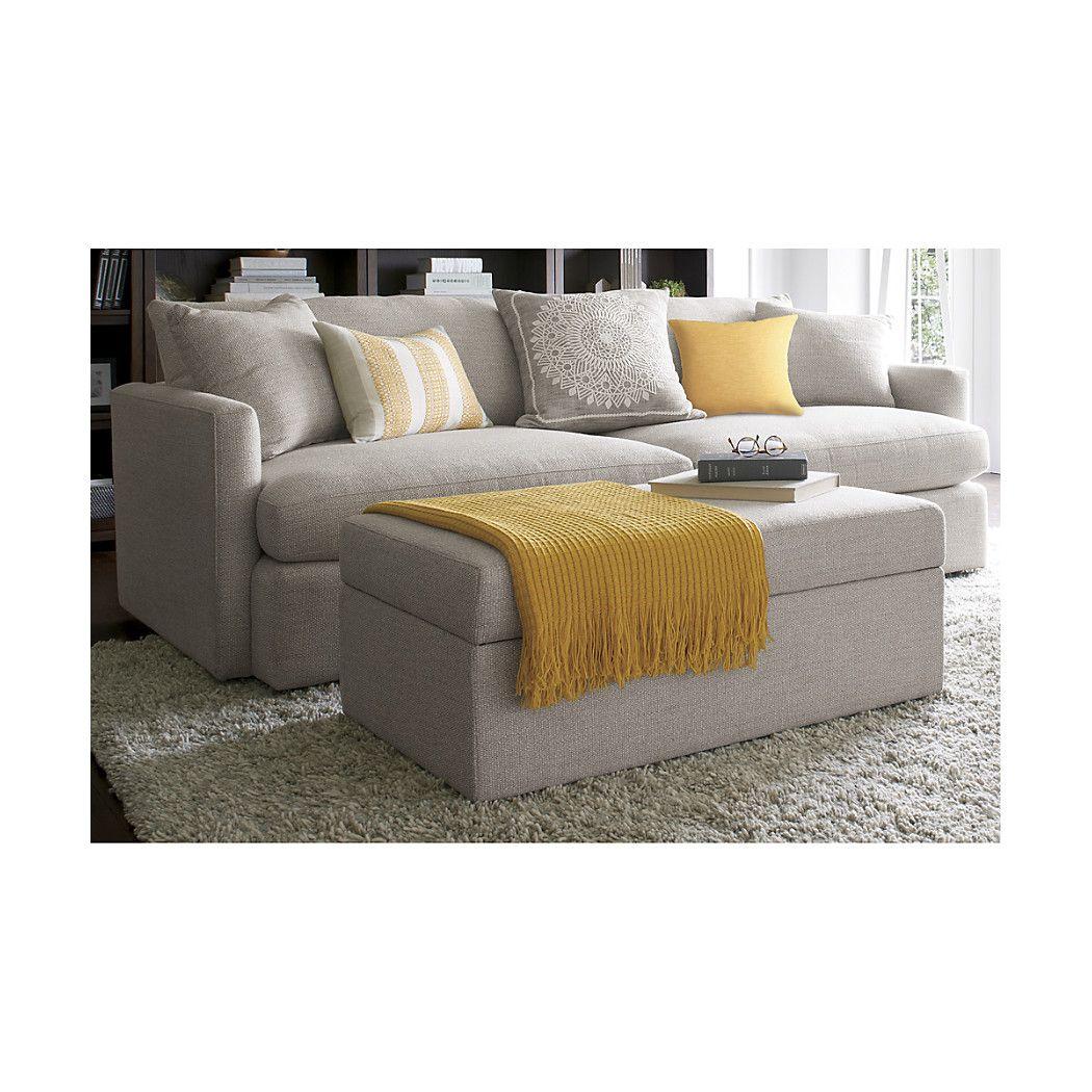 Lounge Ii Storage Ottoman With Tray Decor Furniture Sofa