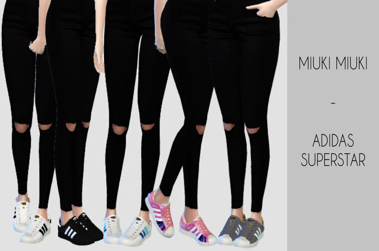 "miuki miuki: "" TS4 Semller Adidas Superstar The Mesh is by"