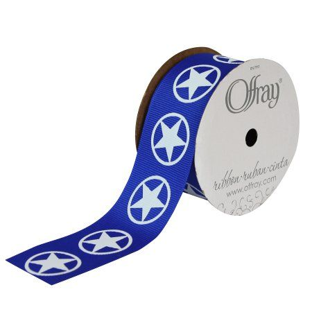 Offray Ribbon Lone Star 1 12 Inches X 9 Feet Products Pinterest