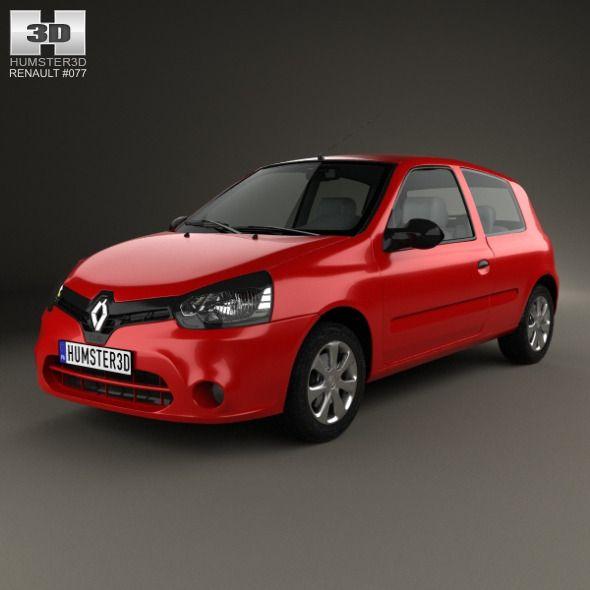 Renault Clio Mercosur 3-door hatchback 2013. Car 3D model. #3D #3DModel #3DDesign #3-doorCar #BrazilianCar #clio #CompactCar #FamilyCar #FrenchCar #hatchback #mercosur #renault #RenaultClio #SmallCar