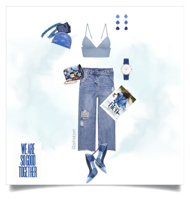 """""""Blue"""" by asheberri ❤ liked on Polyvore featuring T By Alexander Wang, Yves Saint Laurent, Surratt, Loeffler Randall and Liz Claiborne"""