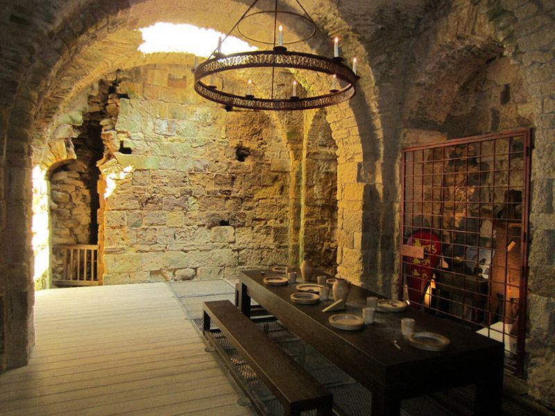 Inside The Old Guard Room At The Medieval Castle In