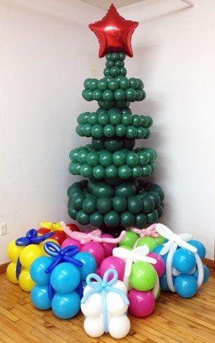 8 decoraciones con globos para navidad que van a - Decoraciones con globos ...