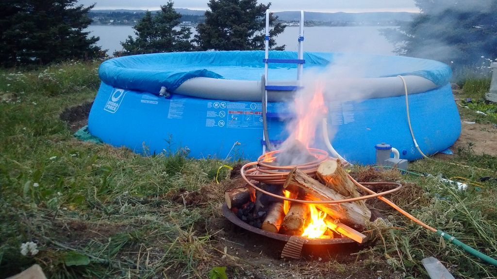 Convert A Fire Pit Or Old Grill Into A Wood Burning Pool Heater Water Heater For The Home