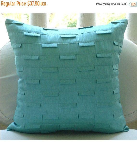 Decorative Aqua Blue Pillow Sham 26 Quot X26 Quot Art Silk Bed