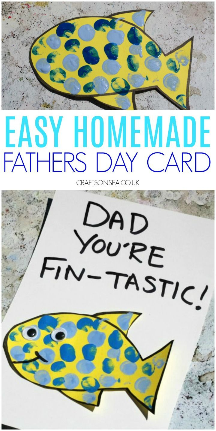 Fathers day cards kids can make finger painting fish