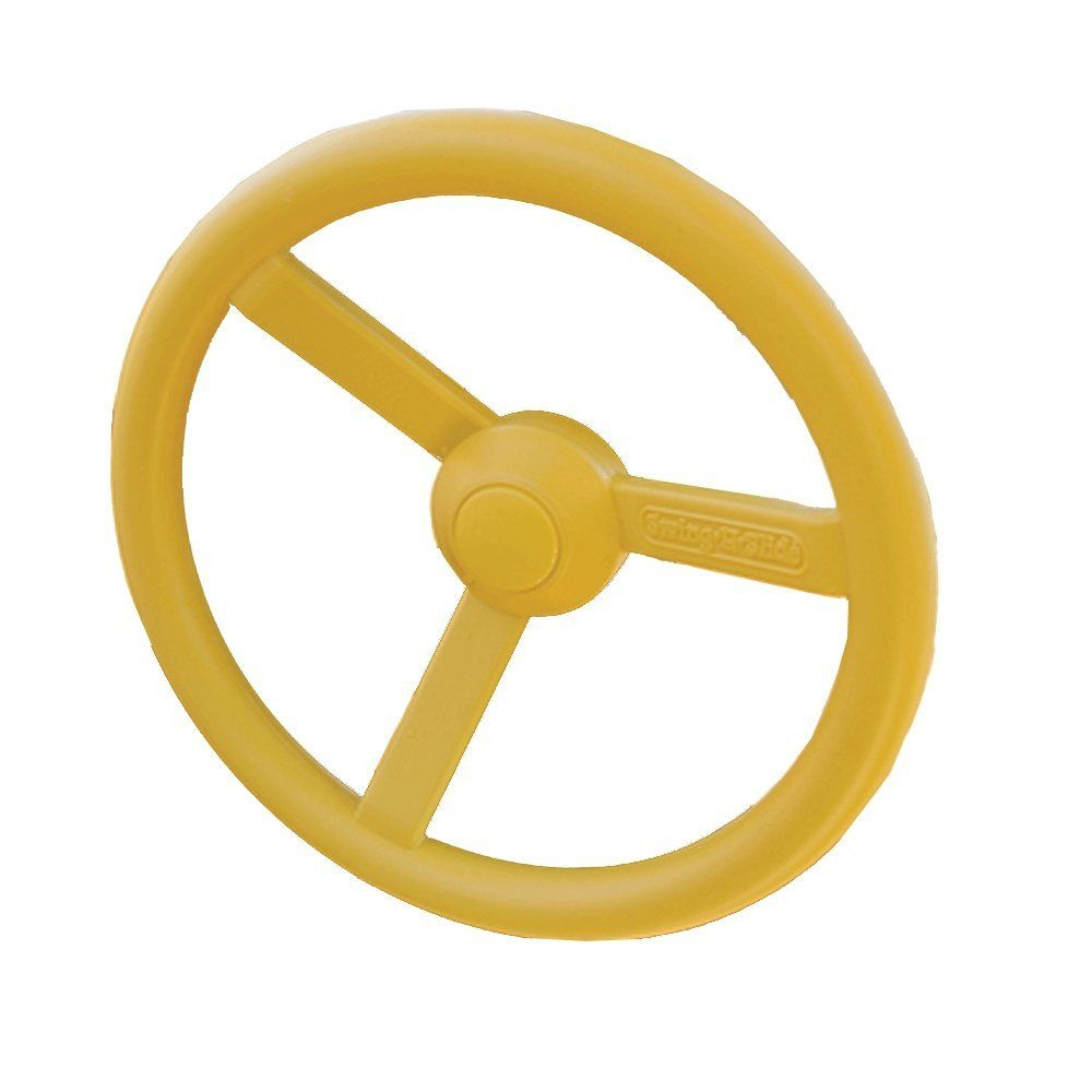 Iycorish Yellow Plastic Steering Wheel Childrens Game Small Steering Wheel perfect for Kids Children Climbing Frame Tree House House