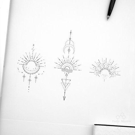 """Photo of © Tätowierer Fedor Nozdrin auf Instagram: """"Available-Designs. . . . . #geometrictattoo"""