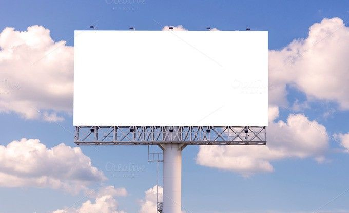 Blank billboard for advertisement. Poster Templates. $7.00