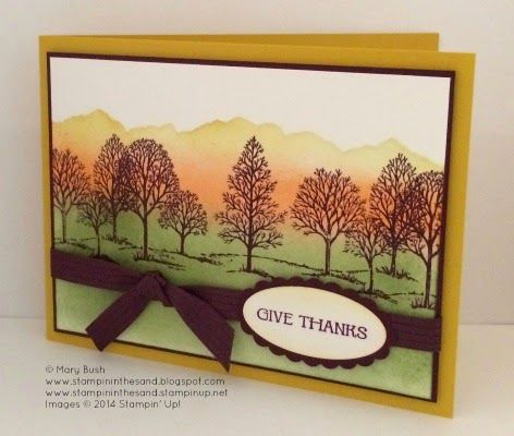 Giving Thanks... #stampin#39;up!cards