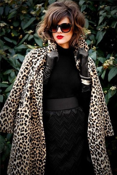 Nothing Like Black Leather Animal Print And Red Lips Loving