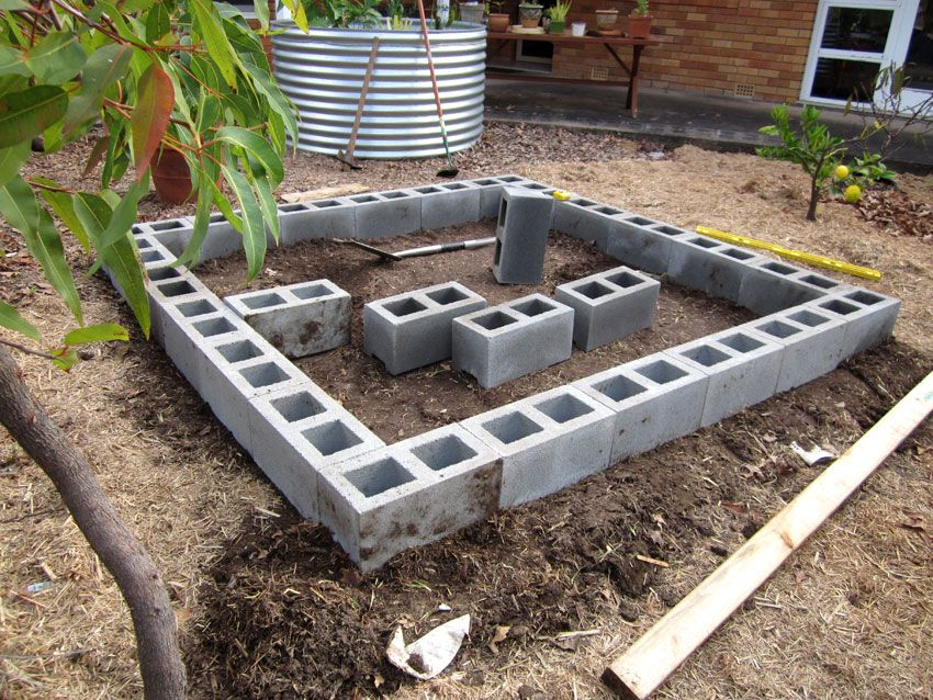 Image result for how to build a floating deck on dirt