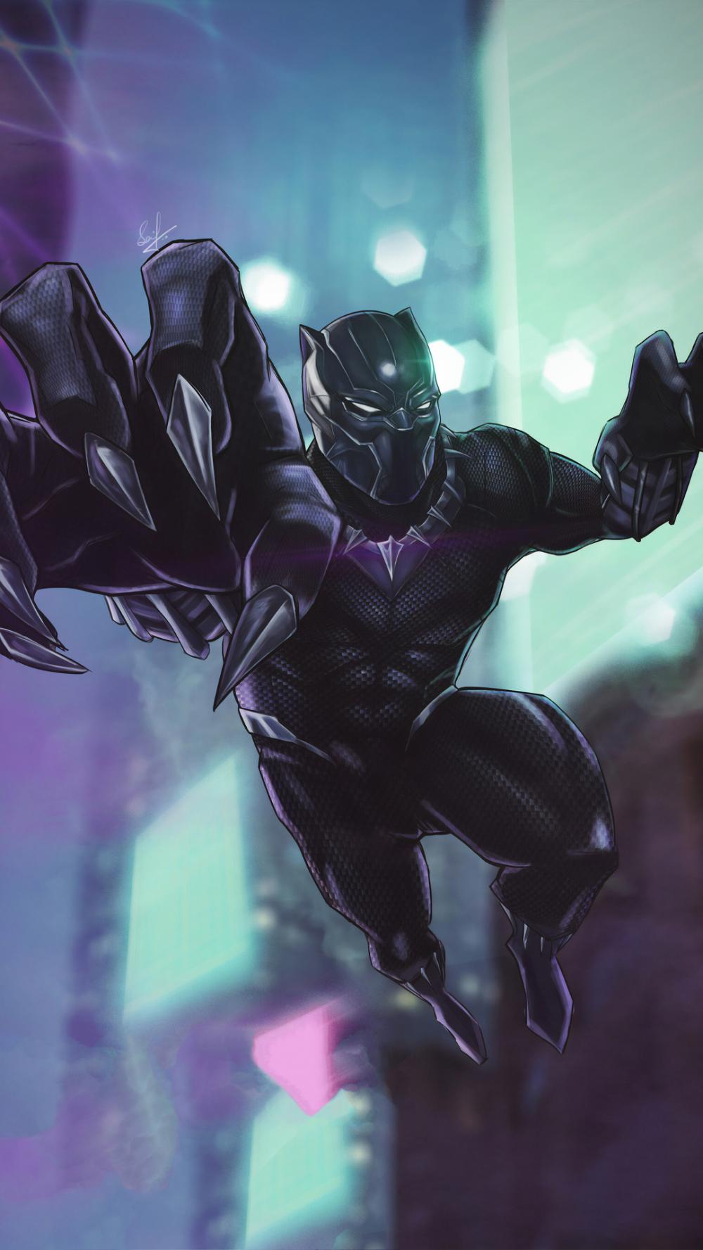 Black Panther in 2020 | Iphone wallpaper, Black panther ...