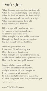 Rest If You Must, But Dont You Quit