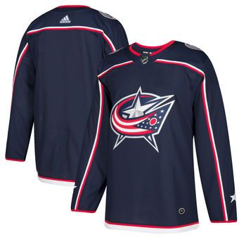 Women's Columbus Blue Jackets Blank Adidas Home Navy Blue NHL Jersey