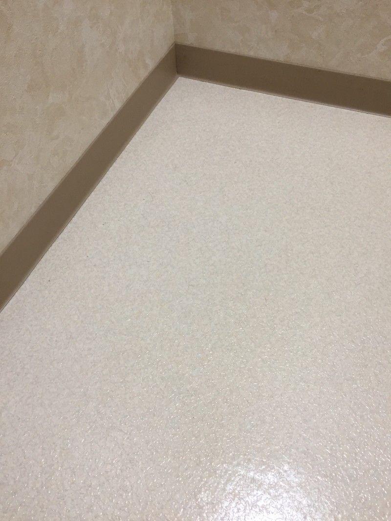 クッションフロア トイレの床 の黒ずみが簡単にキレイに Limia