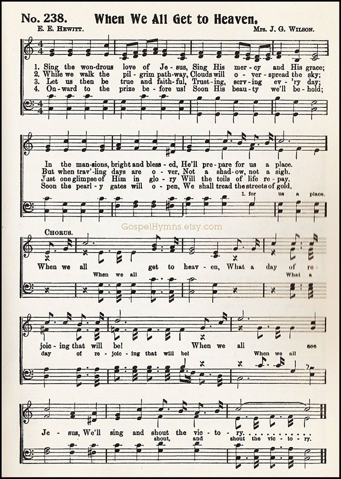 Lyric gospel lyrics.com : When We All Get To Heaven | Hymns | Pinterest | Heavens, Songs and ...