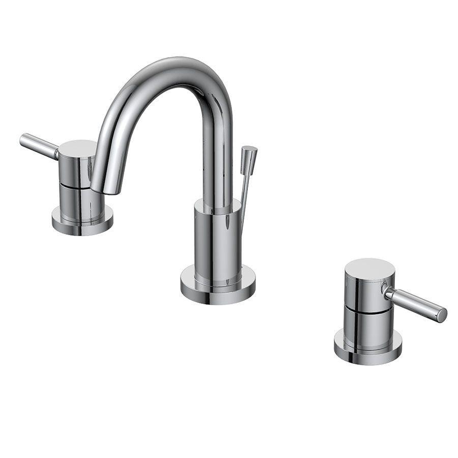 AquaSource Chrome 2-Handle Widespread WaterSense Bathroom Sink ...