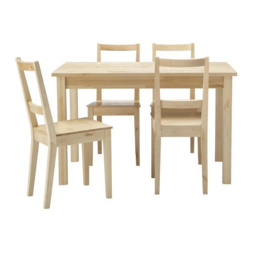 Ikea Wood Kitchen Table: Small Table, Chairs, Ikea Table