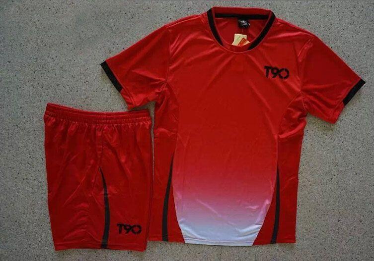 c99f456e4 Soccer Jerseys Cheap-T90 Red Training Blank Uniform  4155