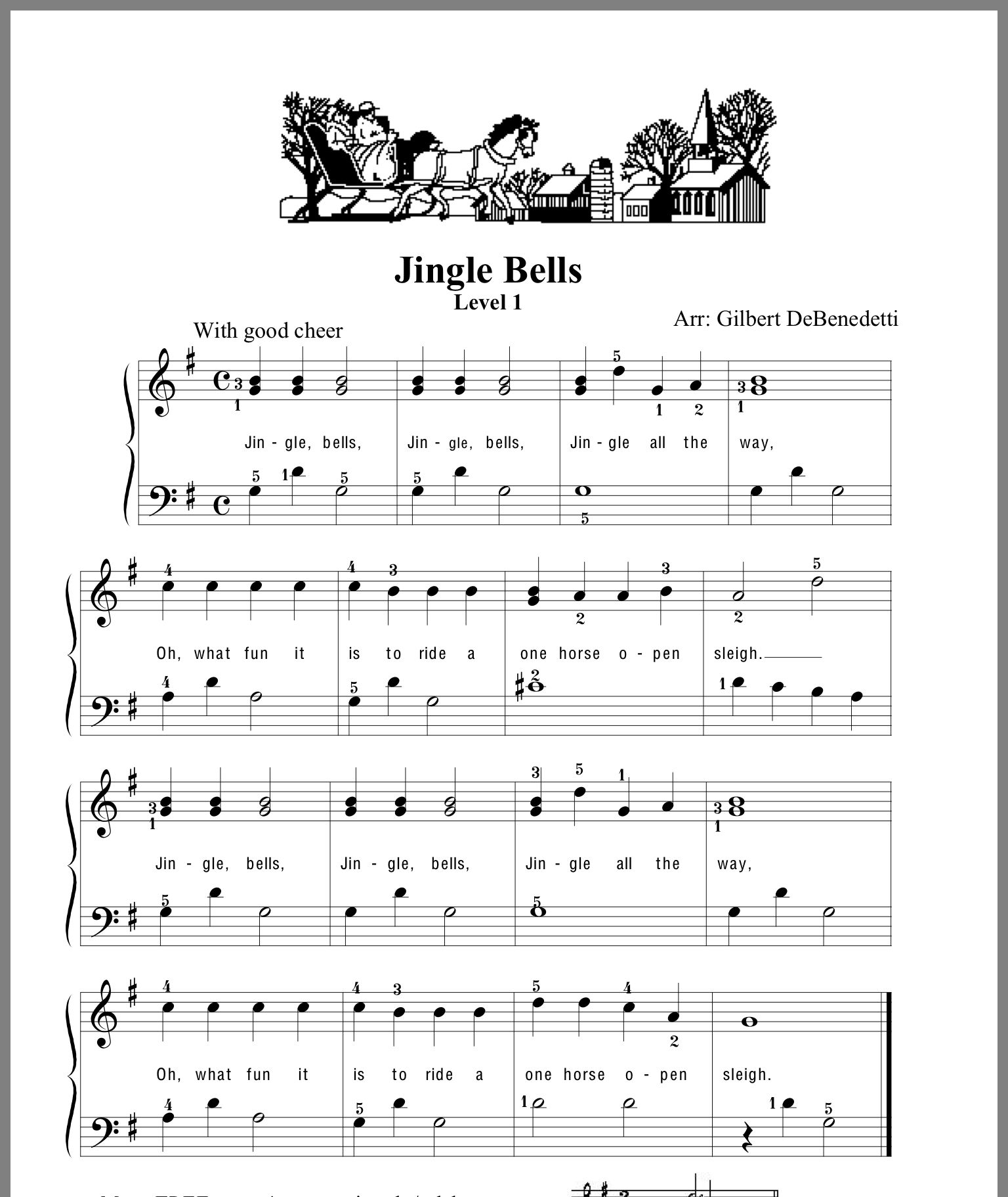 Jingle Bells Piano Lessons Lesson Sheet Music [ 1822 x 1536 Pixel ]