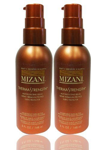 "Mizani Therma Strength Heat-Protecting Serum 5oz ""Pack of 2"" by MIZANI. $38.90. Mizani Therma Strength Heat-Protecting Serum 5oz ""Pack of 2"". A botanically enriched, heat-activated style serum formulated with patented advanced strengthening and anti-breakage ceramide technology to dramatically improve the hair's tensile strength, leaving the hair feeling strong, shiny and full of body."