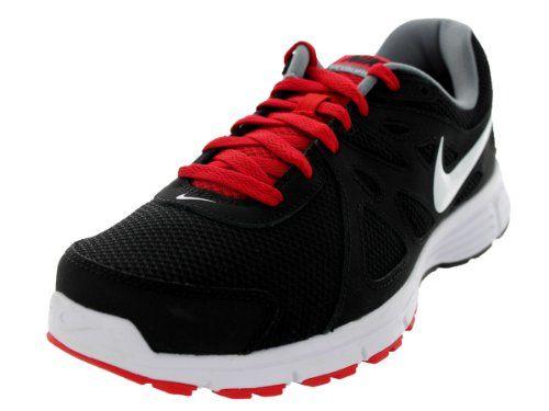 Nike Men's NIKE REVOLUTION 2 RUNNING SHOES 10 Men US (BLACK/WHITE/VARSITY