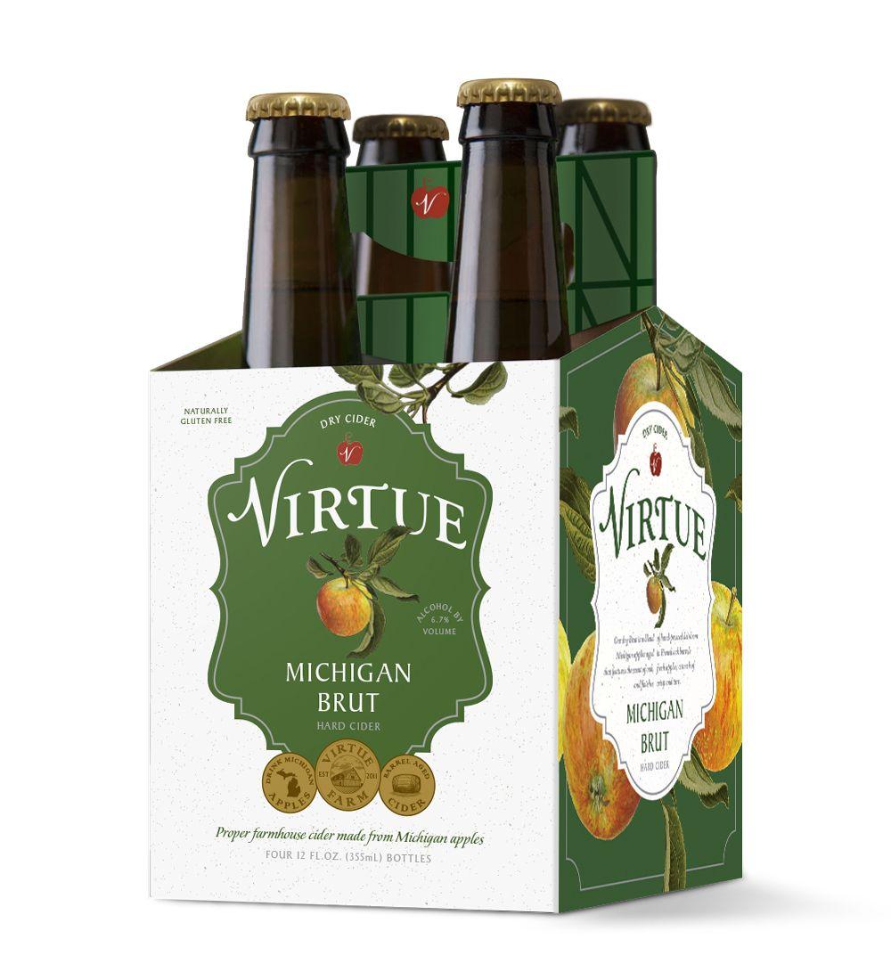 Virtue Cider on Behance (With images) Cider, Dry cider