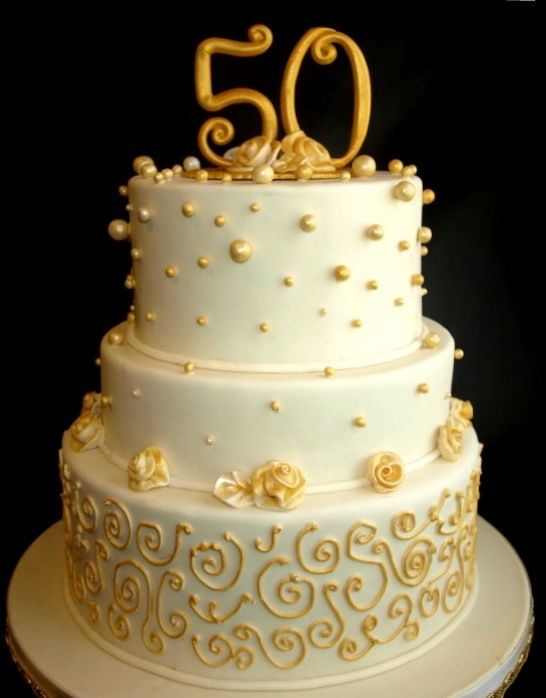 50 anniversary cakes | Wedding Cakes Gallery / Pictures- Laurie Clarke Cakes, Portland OR