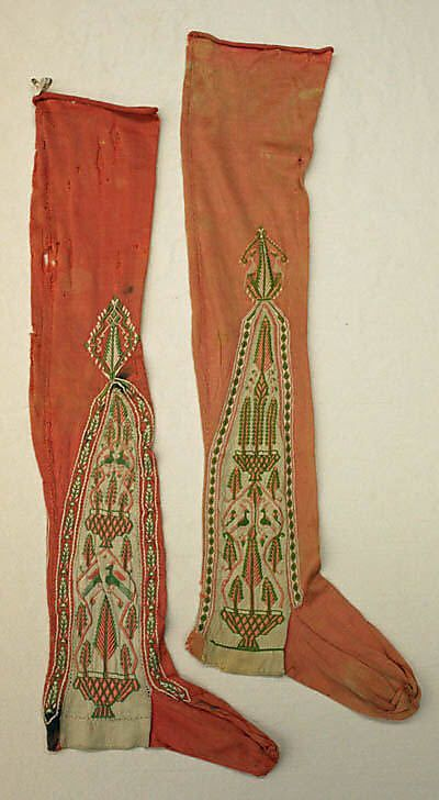 Stockings 1796, French, Made of silk