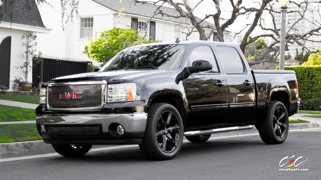 Gmc Sierra With Custom Wheels Cec Los Angeles Ca Us 239635