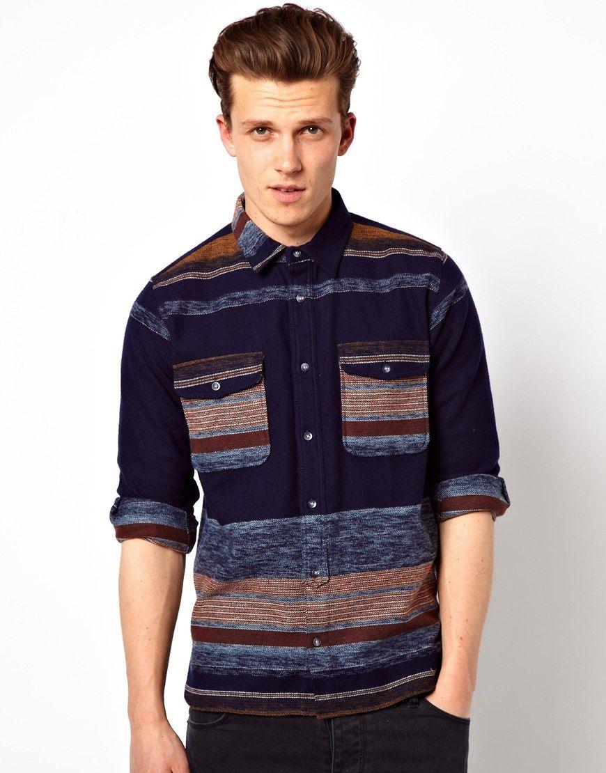 Edwin Shirt Loggerhead Blanket Stripe Flannel in Blue for Men (Bluestripes)  | Lyst