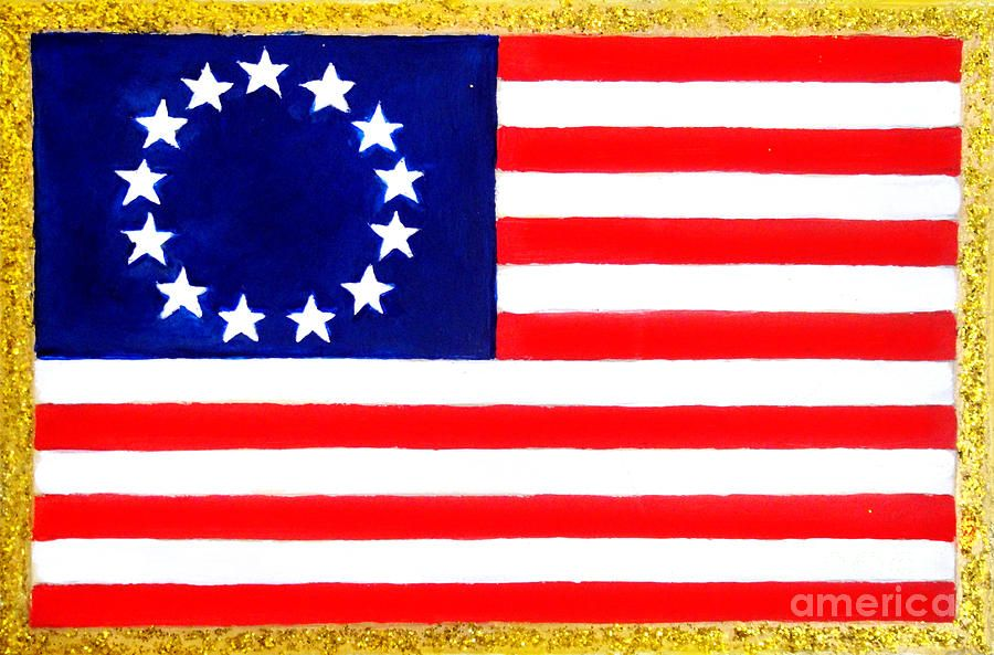 American Flag With 13 Stars By Sofia Metal Queen American Flag Art Flag