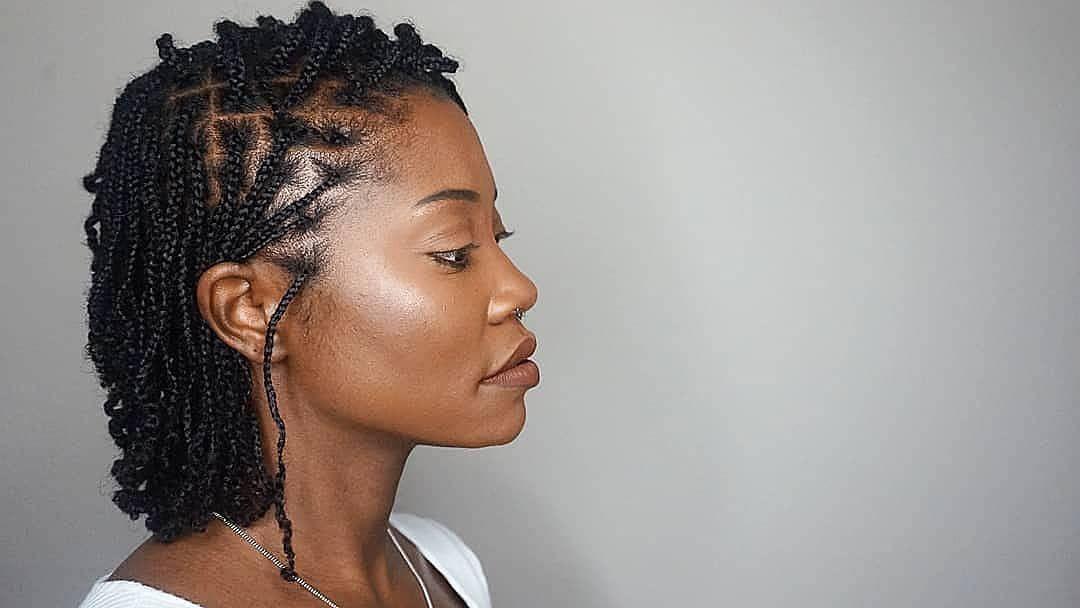Cute Shoulder Length Mini Braids On Type 4 Natural Hair Natural Hair Braids Tapered Natural Hair Hair Styles
