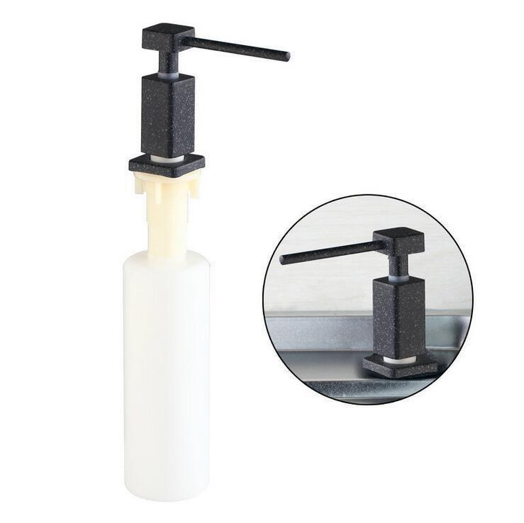 Stainless Steel Head Liquid Soap Dispenser Kitchen Sink Liquid