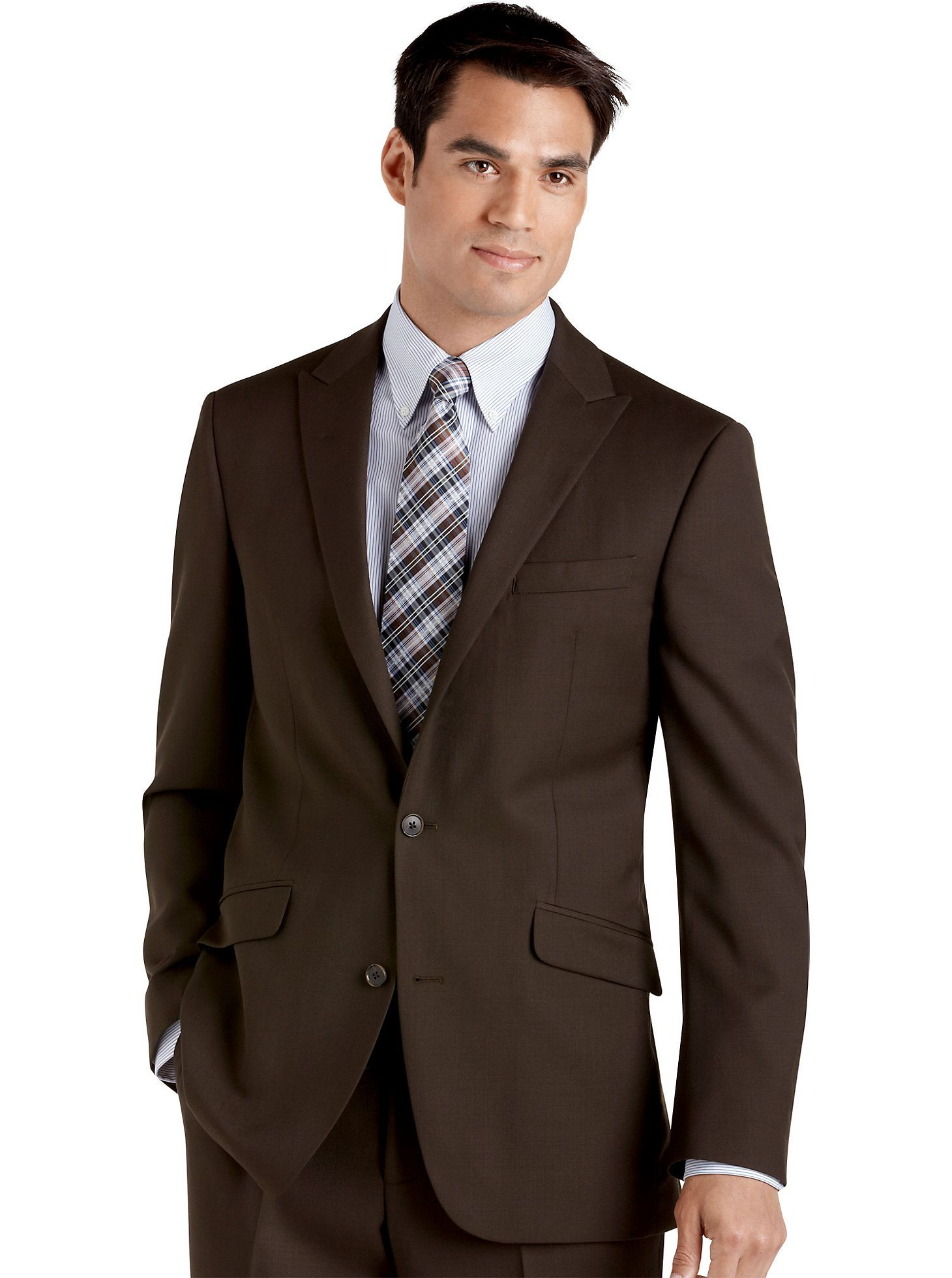 Men's Warehouse. in 2019 | Mens suits, Slim fit suits, Brown