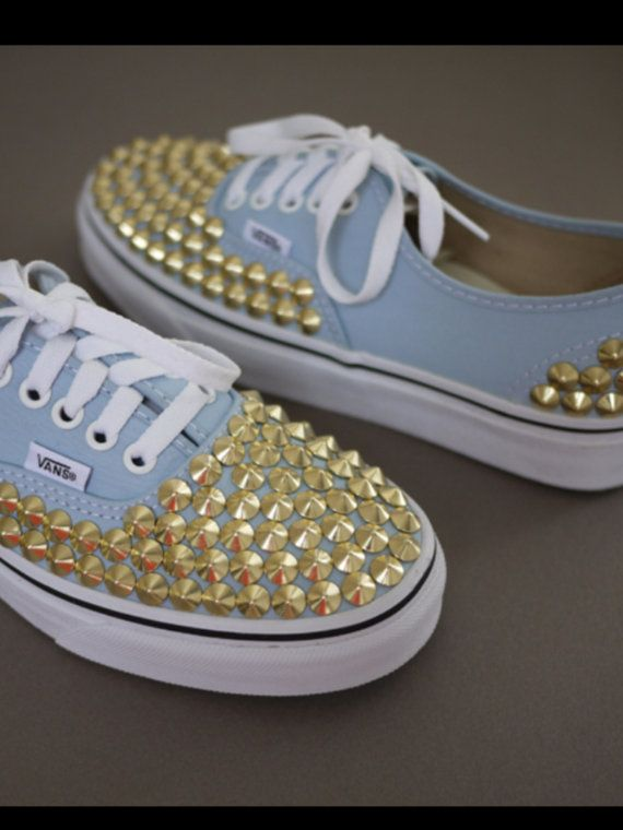 Customshoesandthings cool I love these!!:) | Studded vans