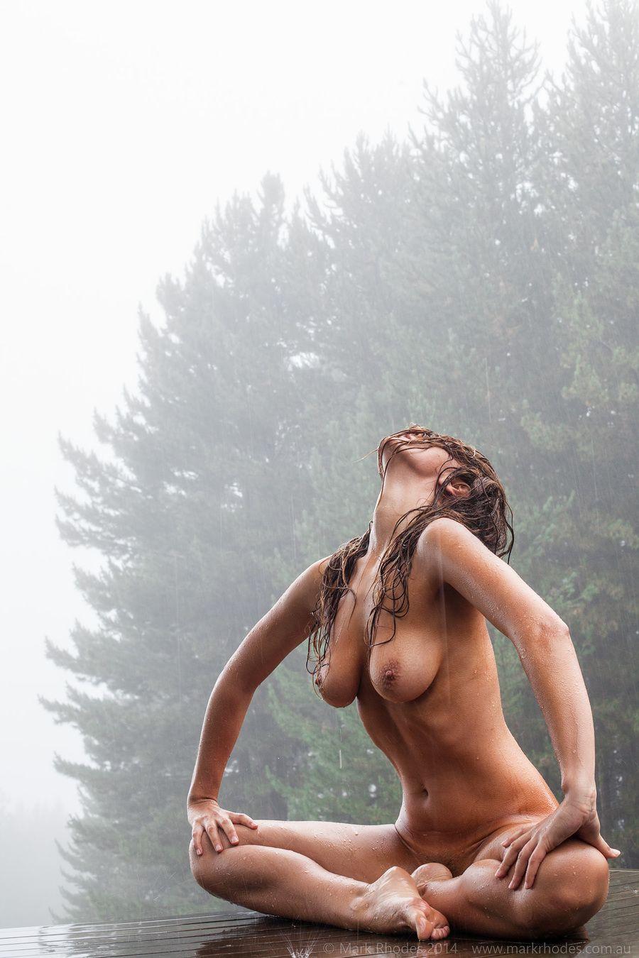 Something also Beautiful sexy nude in rain